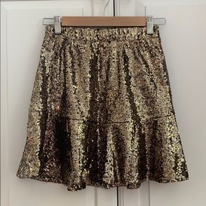 NWT xhilaration target gold sequin skirt S SMALL